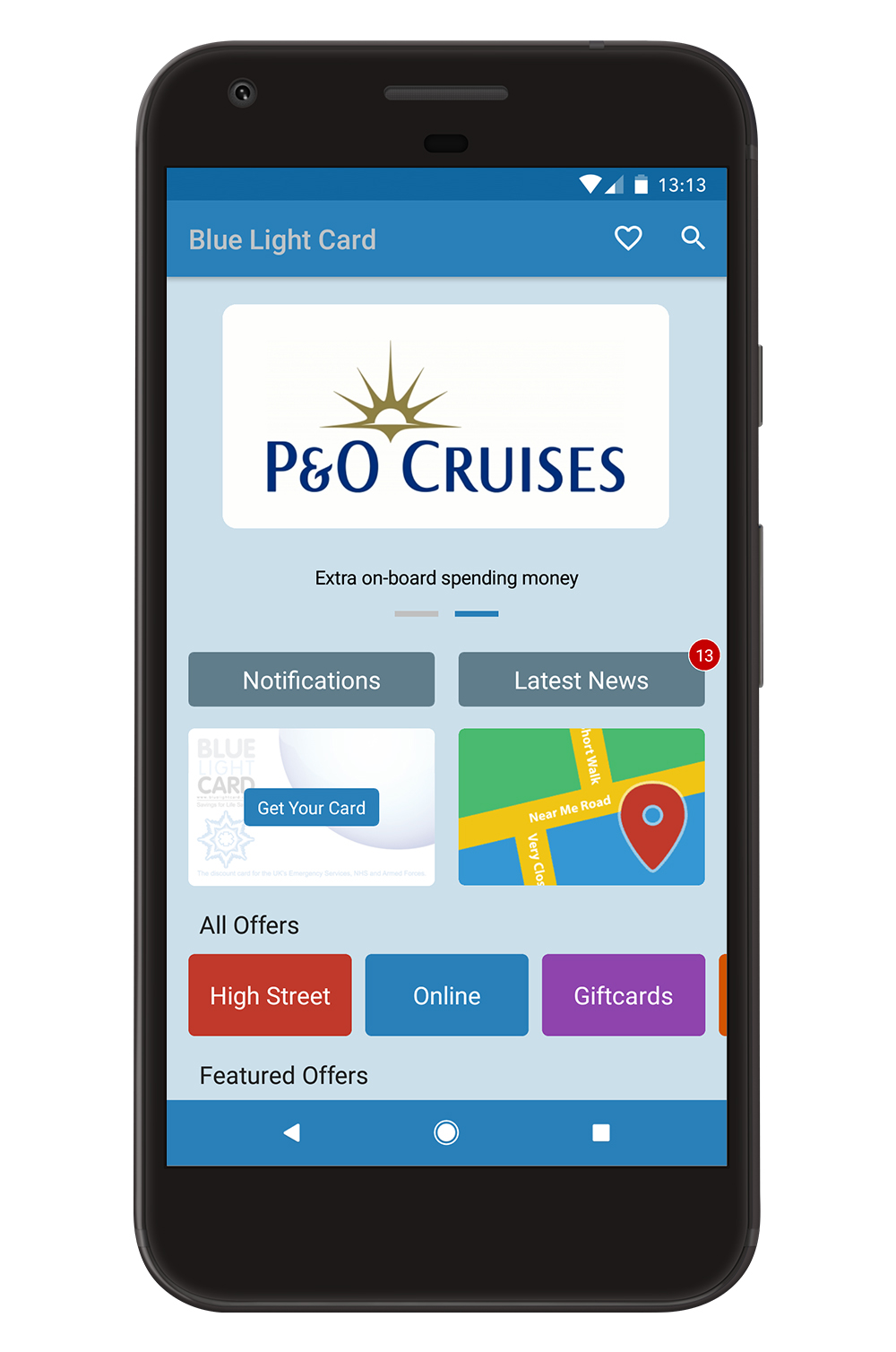 Blue Light Card Mobile Application