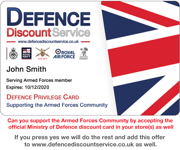 Help Support the Armed Forces with Defence Discount Service