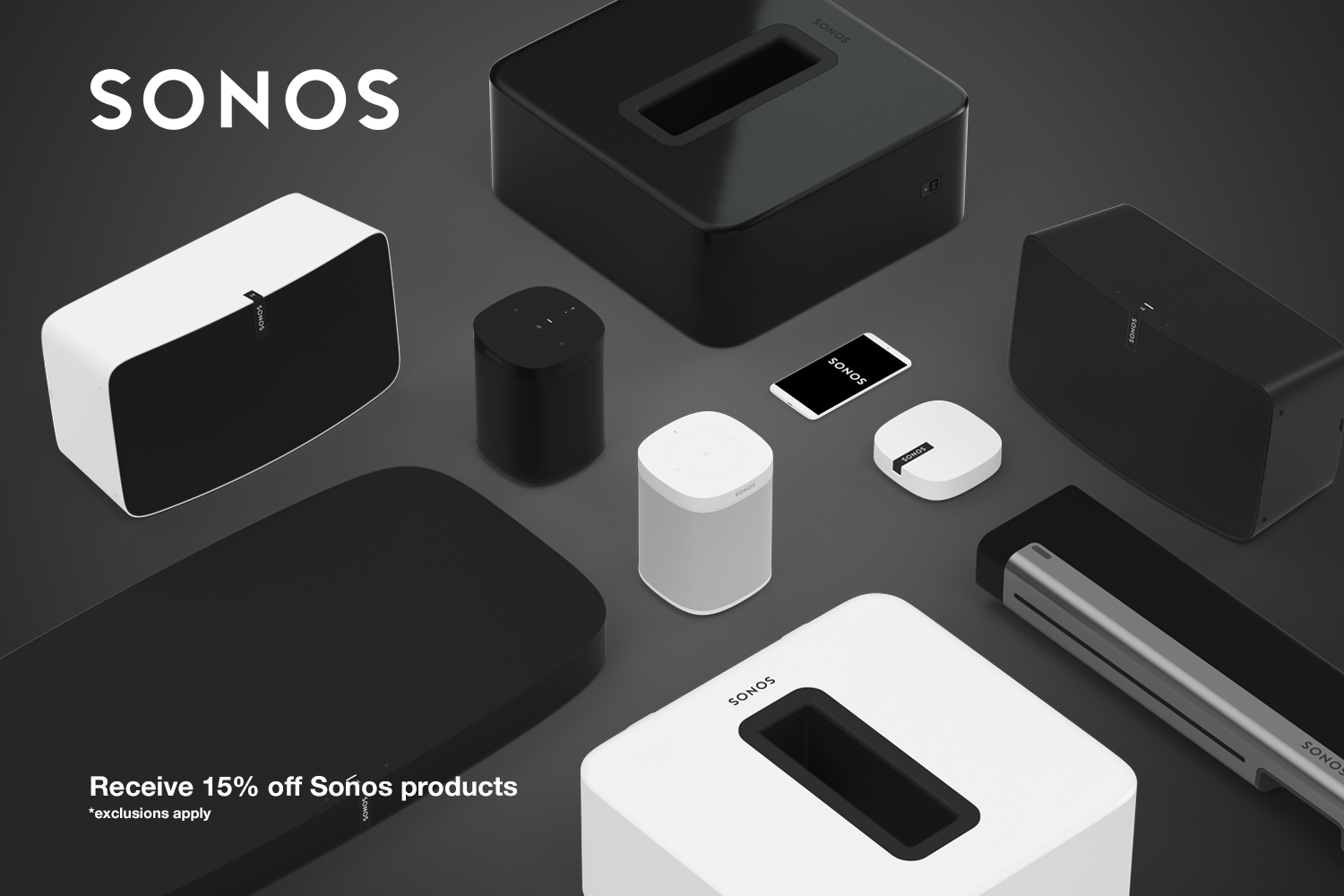 New partnership and discount scheme with Sonos